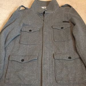 Men's military style Gray Jacket